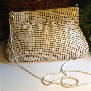 Handbags - White Beaded Clutch